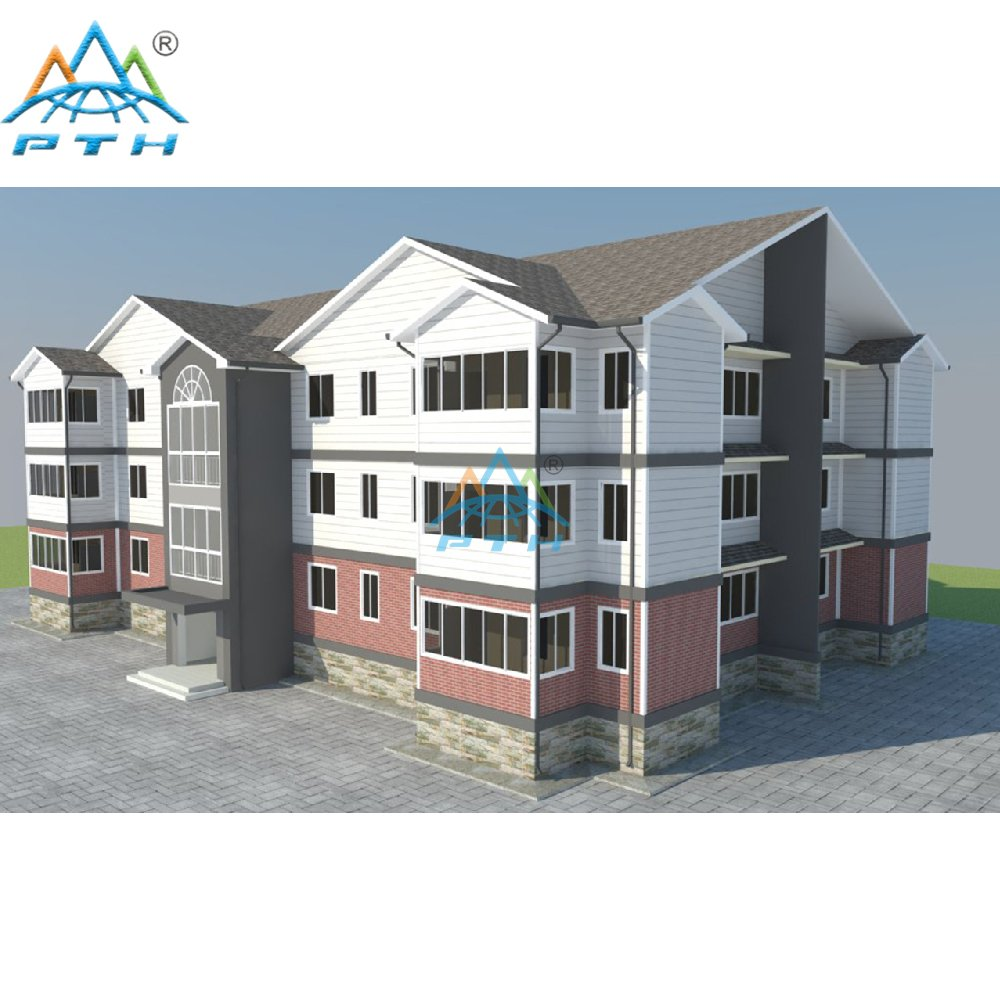 Prefabricated Light Steel Structure Villa Three Floors Apartment