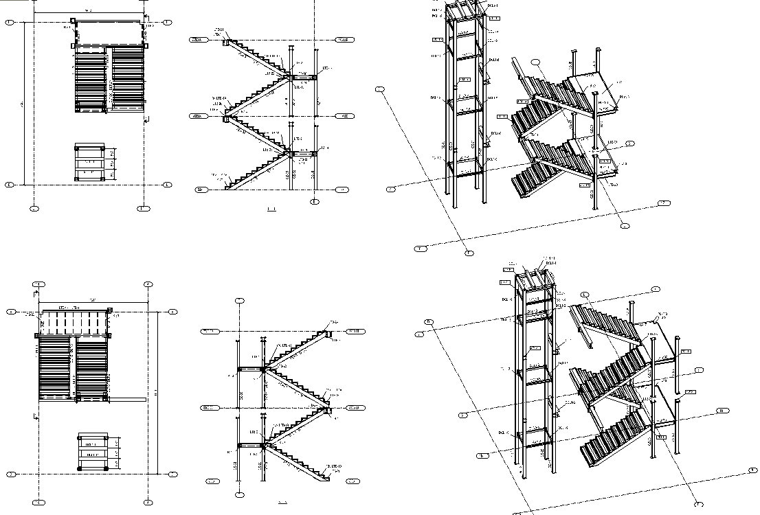 steel structure hotel detailed structure size drawing-4
