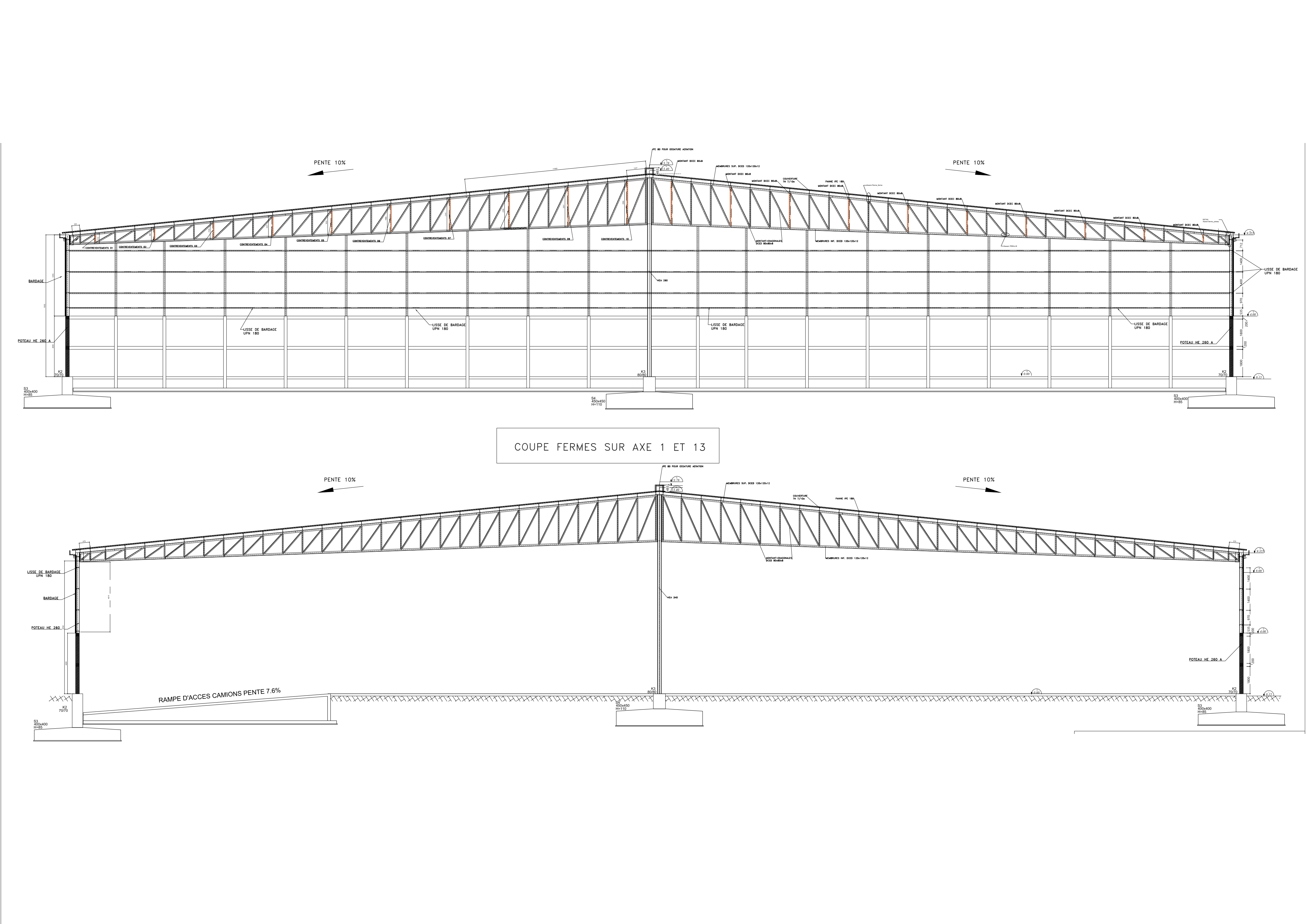 steel structure aircraft structural representation-1