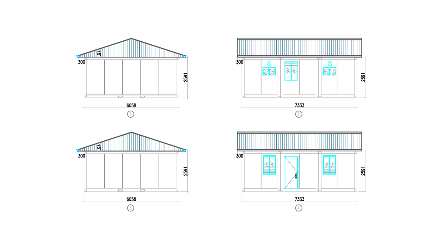 prefabricated container homes design dimensions-2