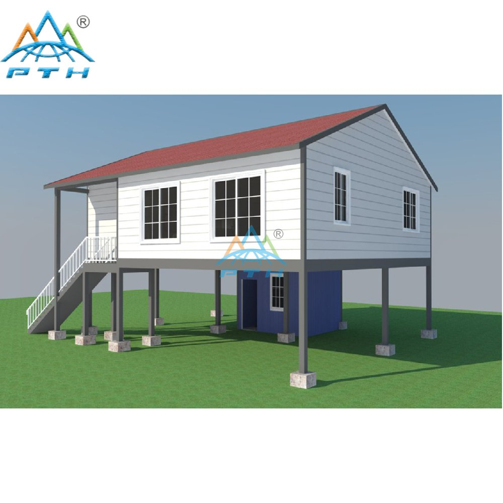 Luxury Prefab Light Steel Structure Villa With 3 Bedroom
