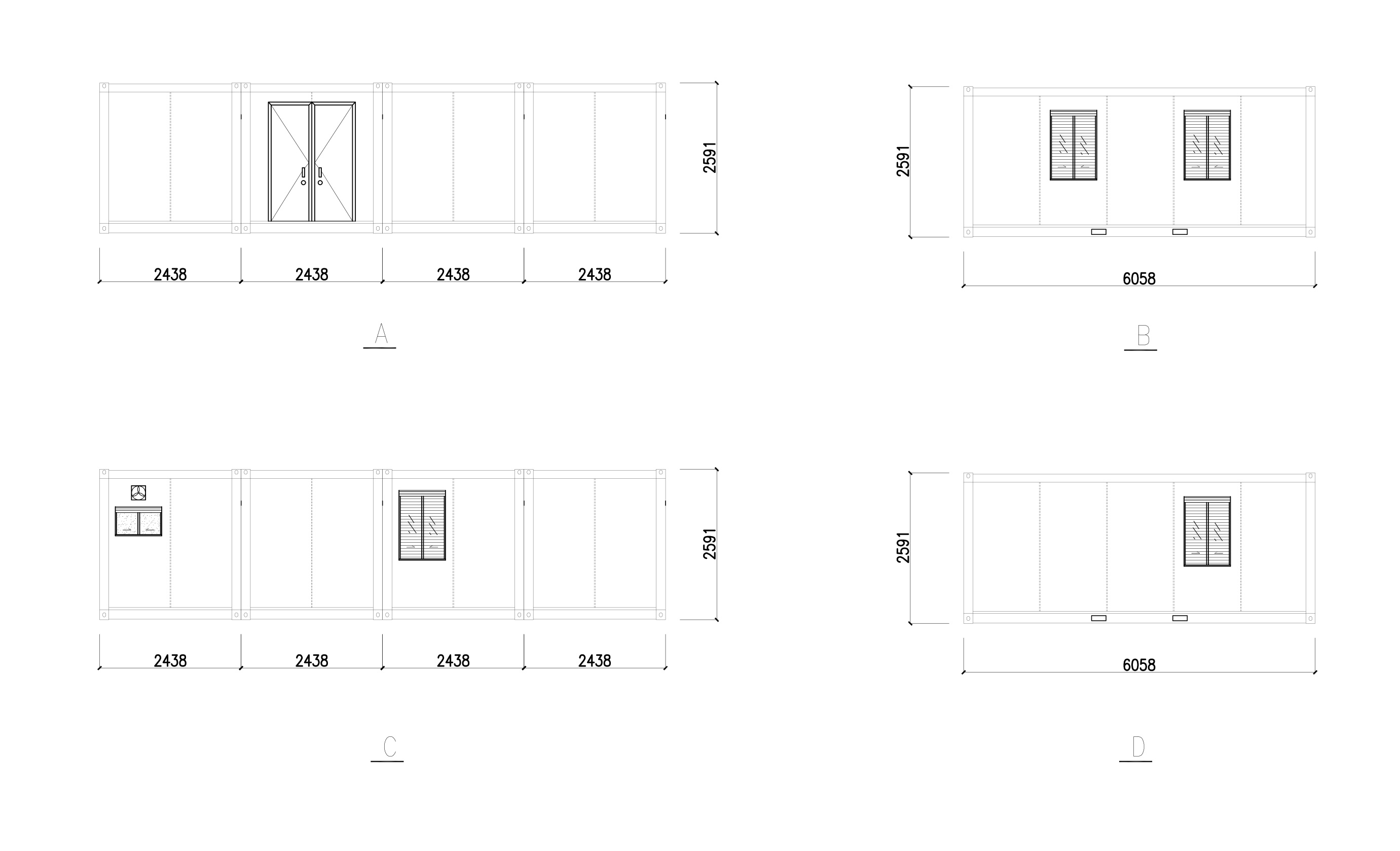 prefab container office detailed construction size-2