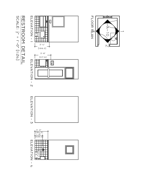 prefabricated office building detailed dimensional drawing for construction-3